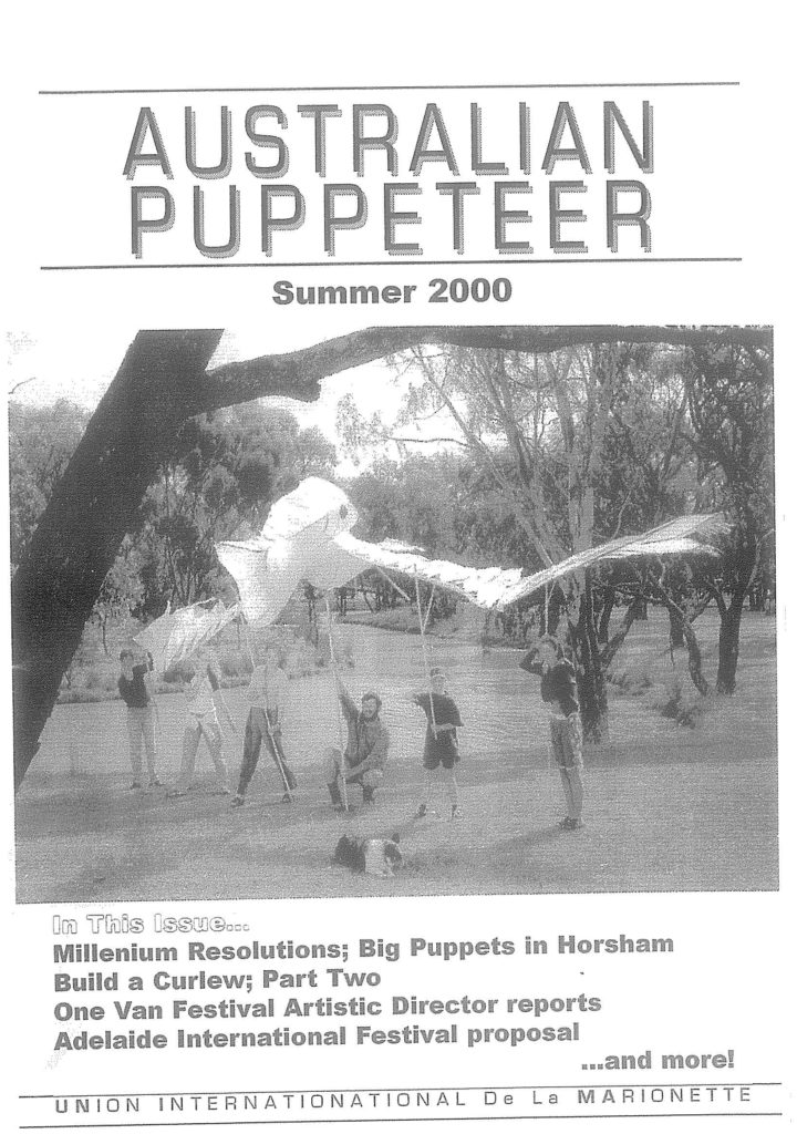 Cover of the Summer 2000 magazine
