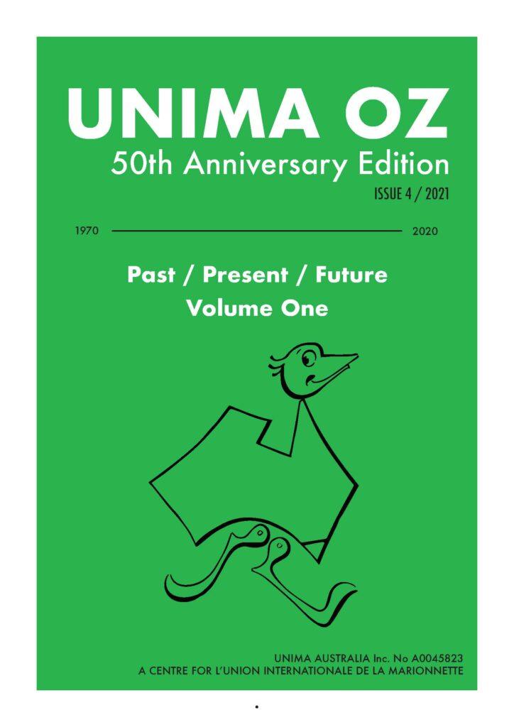 50th Anniversary issue of UNIMA Oz cover